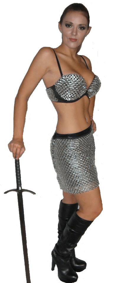Allie in chainmail