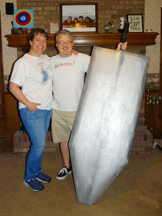 Angie David and Giant Sword