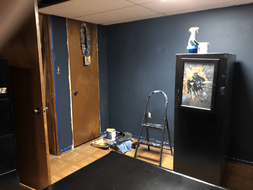 Walls Painted in Blue Note