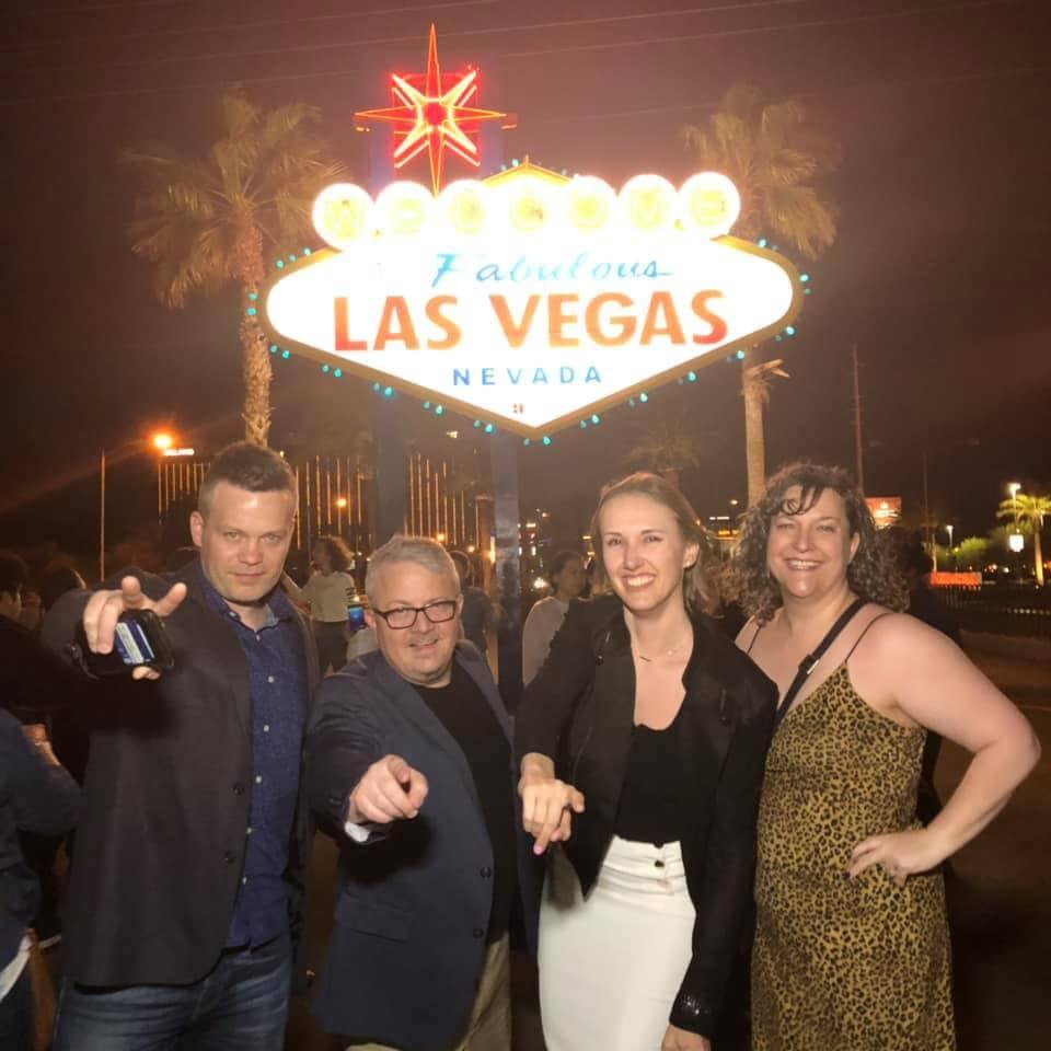 Brandon David Cristi and Angie in Las Vegas