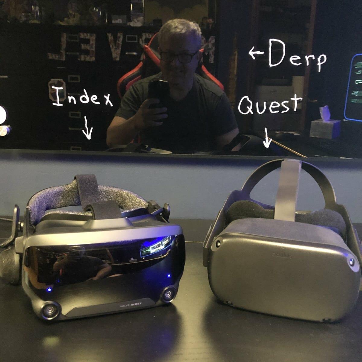 Valve Index and Oculus Quest