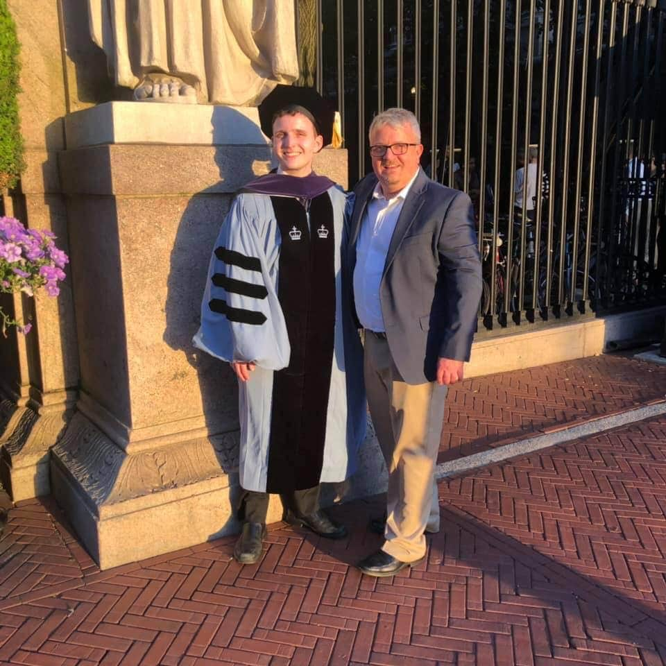 James graduates from Columbia Law