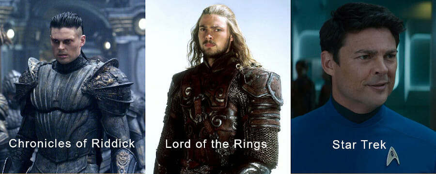 Karl Urban in 3 roles
