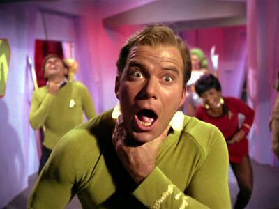 Captain Kirk in pain