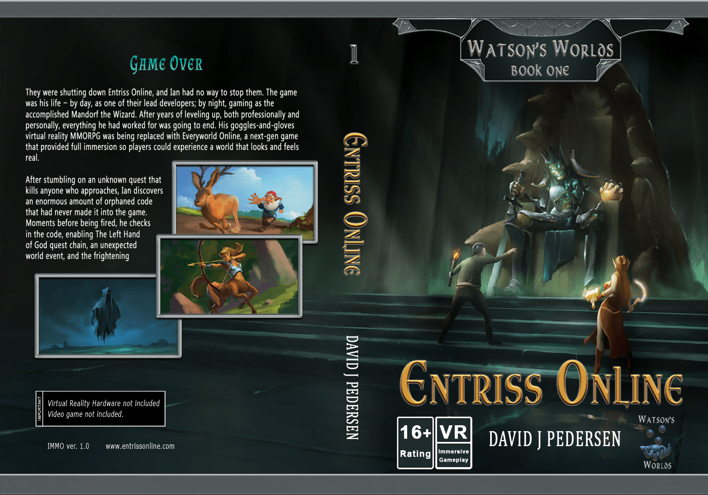 Entriss Online LitRPG Book Cover and Blurb