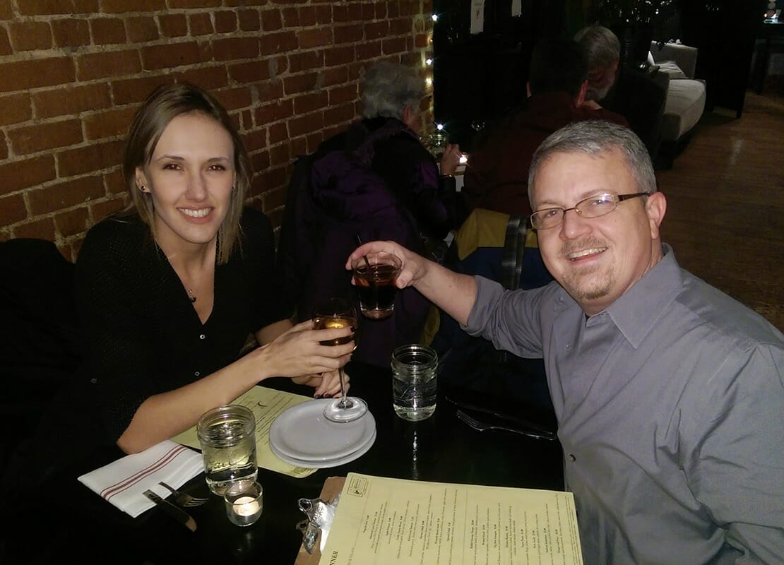 Cristi and David at Dinner