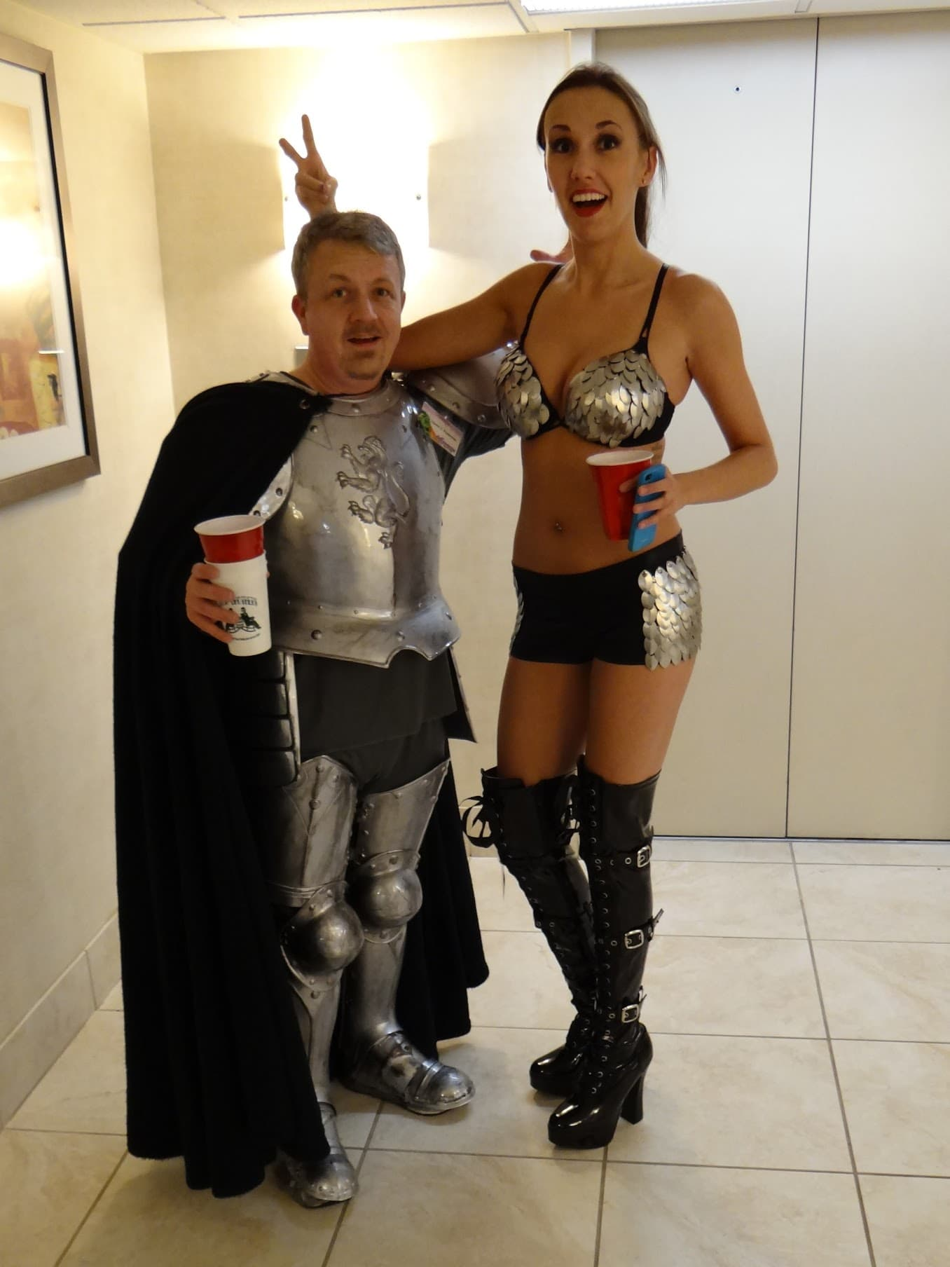 David and Cristi in Armor