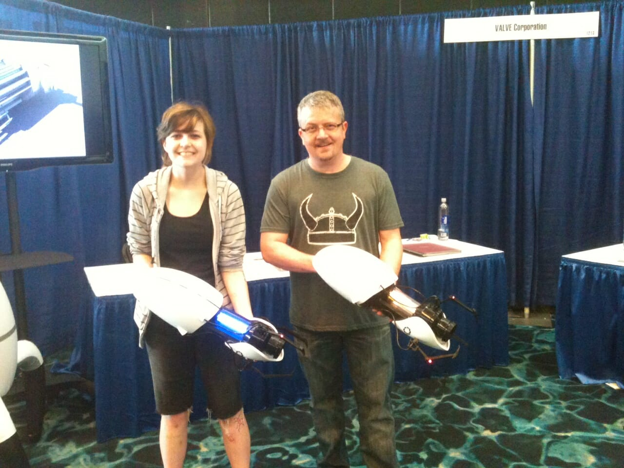 David and Joanne with Portal Guns